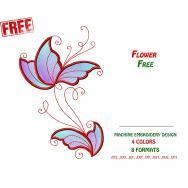 Openwork floral ornament. Free design #0004