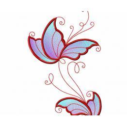 Durchbrochene Blumenverzierung. Freies Design #0004