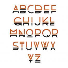 """Englisches Alphabet. """"Runa Alphabet"""" #002"""