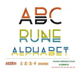 "English alphabet. ""Runa alphabet"" #002"