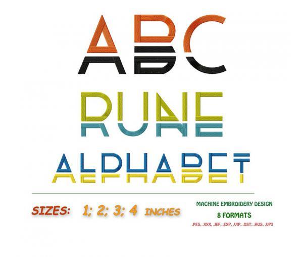 """Alphabet anglais. """"Alphabet Runa"""" #002"""