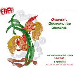 Free Design for Machine Embroidery (Goldfish) # 0005