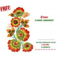 Design for Machine Embroidery (Ethnic Floral Ornament) # 0009