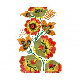 Motif de broderie Machine (ornement floral ethnique) # 0009