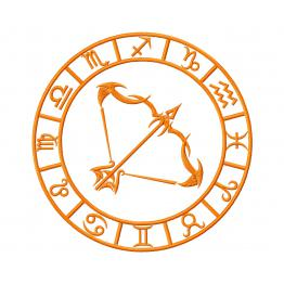 Знак зодиака Стрелец. Дизайн машинной вышивки #0041