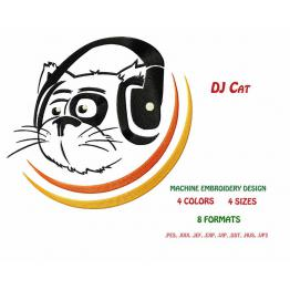 Embroidery file Cat DJ #0006