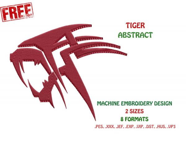 Free Abstract Tiger Design #0021