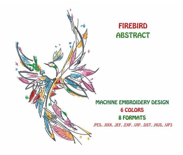 Abstrakte Feuer-Vogel #0023