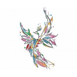 Oiseau de feu abstrait #0023