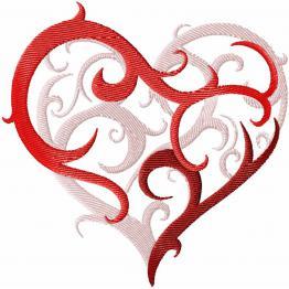 La Saint-Valentin. Motif de broderie machine #0024