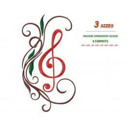 Musical, treble clef #0027