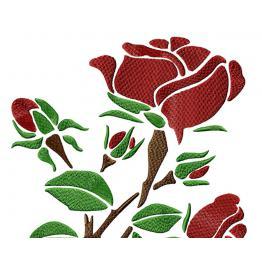 Rose rouge - stylisée #0029