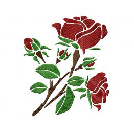 Red rose - stylized #0029