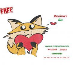 Кошка с сердцем. Бесплатный дизайн #0030