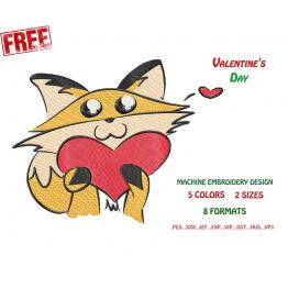 Cat with a heart. Free Design #0030