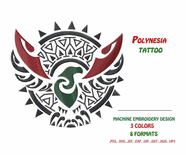 Polynesian Eagle Tattoo #0042