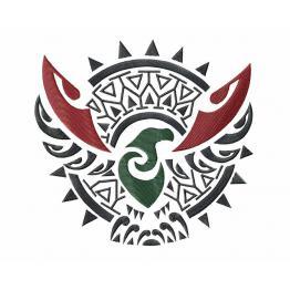 Tatouage d'aigle polynésien #0042