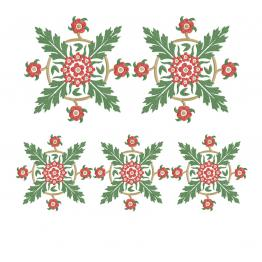 Symmetrical floral ornament #0043
