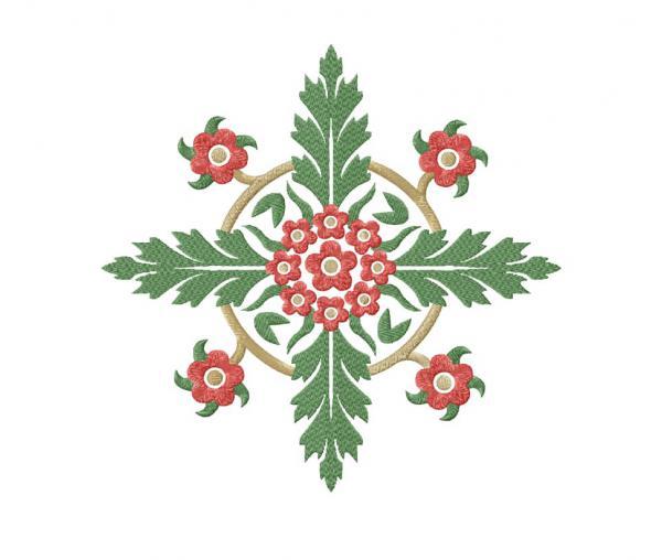 Symmetrical floral ornament #0043