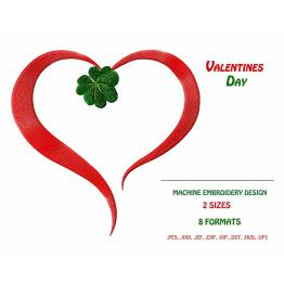 St.Patrick 's Day. Heart and Clover #0047