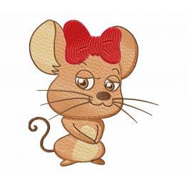 Maus mit einem Bogen Free Design #0048