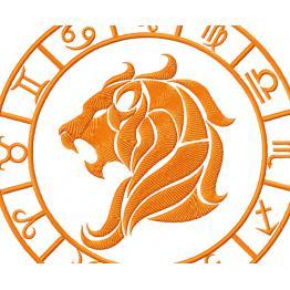 Embroidery design. Leo zodiac sign # 0054