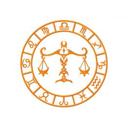 Libra, zodiac sign. Embroidery file #0055