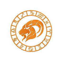 Zodiac sign Capricorn. Design for machine embroidery # 0056