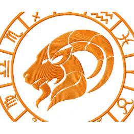 Zodiac sign Capricorn. Design for machine embroidery # 0056