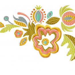 Ethnic floral ornament. Free sample #0060