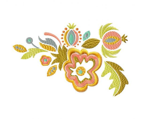 Ornement floral ethnique. Échantillon gratuit #0060