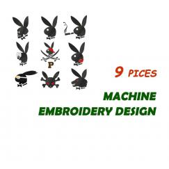 Плейбой. Коллекция из 9 дизайнов для вышивки на одежде #0075-kit