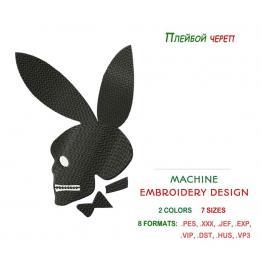Плейбой, ушастый кролик - дизайн вышивальный #0075_3