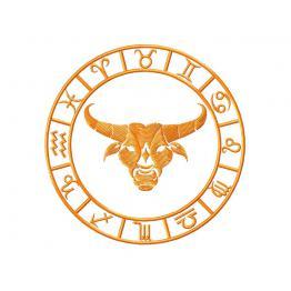 Signe du zodiaque taureau. Fichier Machine à broder #0081