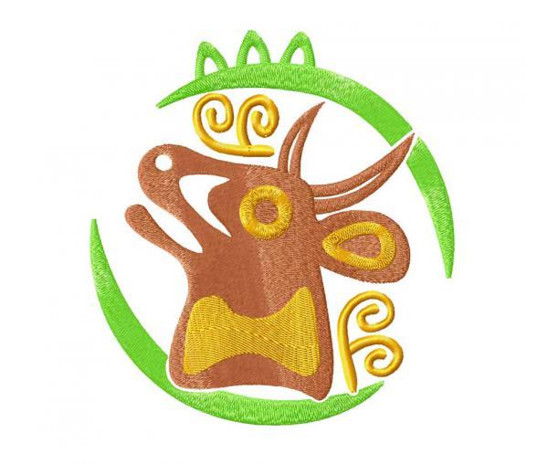 """Taurus zodiac sign """"Aztecs"""" #0095"""