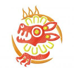"Leo zodiac sign ""Aztecs"" #0099"