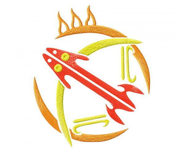 """Sagittarius zodiac sign """"Aztecs"""" #0103"""
