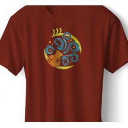 Zodiac sign Aquarius, Aztecs. Sampler without registration #0105