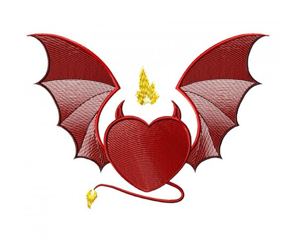 Heart with wings, Valentine's Day #0163