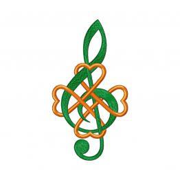 Дизайн машинной вышивки, скрипичный ключ #0194