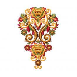Ornement floral rétro + échantillon gratuit #0203