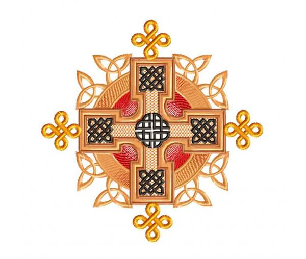 Celtic ornament, symmetrical embroidery design #0235
