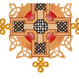 Celtic ornament, symmetrical embroidery design #0235