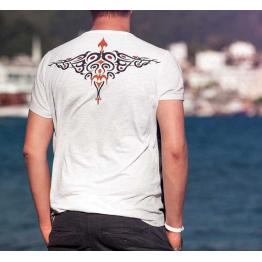 Motif de broderie oiseau abstrait (tatouage) #0313