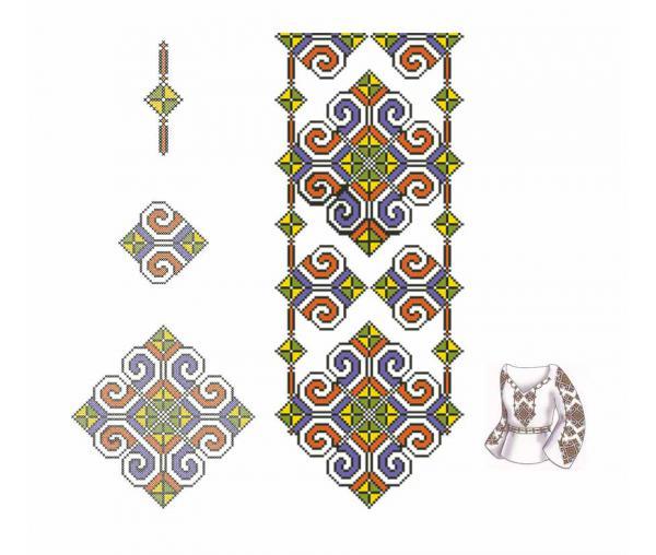 Ажур, Орнамент вышивки крестиком #0405