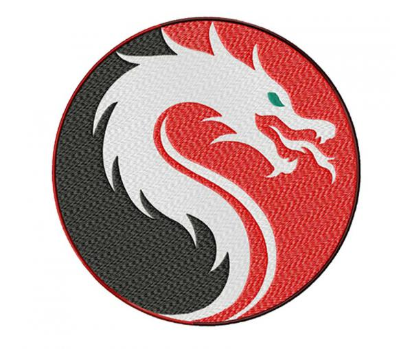 Dragon Yin and Yang. Chevron #0409